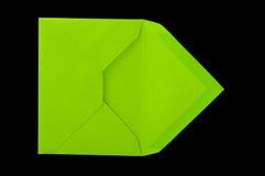 Sobre verde. Imagen de archivo