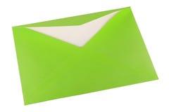 Sobre verde Imagen de archivo libre de regalías