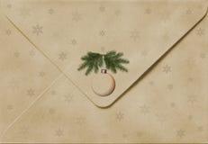 Sobre viejo de la Navidad fotografía de archivo