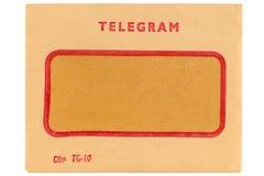 Sobre viejo del telegrama imagen de archivo libre de regalías