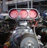 Sobrealimentador de la impulsión en un coche americano imagen de archivo