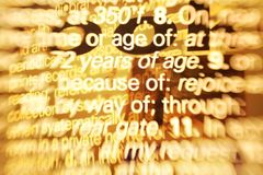Sobrecarga de información Foto de archivo libre de regalías