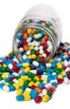 Sobrecarga de la píldora Imagen de archivo libre de regalías