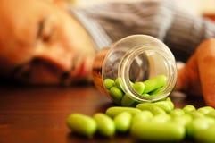 Sobredosis de drogas Imagen de archivo libre de regalías