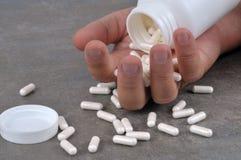 Sobredosis de drogas en cierre para arriba imágenes de archivo libres de regalías