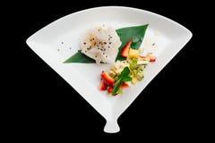 Sobremesa asiática do fruto isolada no preto Fotografia de Stock