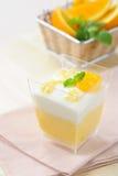 Sobremesa - bolo alaranjado Imagem de Stock Royalty Free