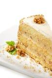 Sobremesa - bolo de queijo Nuts Foto de Stock Royalty Free