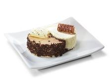 Sobremesa - bolo de Yin-yang Foto de Stock Royalty Free