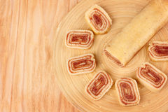 Sobremesa brasileira de rolo do Bolo (rolo suíço, bolo do rolo) Fotografia de Stock
