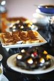 Sobremesa; Caramelo de nata Imagens de Stock