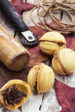 Sobremesa caseiro da farinha Imagem de Stock