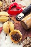 Sobremesa caseiro da farinha Fotos de Stock Royalty Free