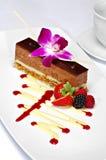 Sobremesa chapeada do mousse de chocolate Imagens de Stock Royalty Free