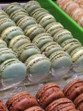 Sobremesa coloful de Macaron Imagem de Stock Royalty Free