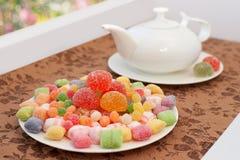 Sobremesa com chá Imagem de Stock