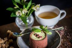 Sobremesa com chá Fotografia de Stock Royalty Free