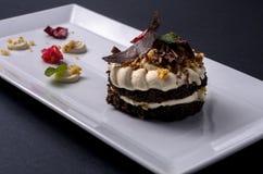 Sobremesa com chantiliy Imagens de Stock