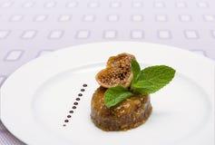 Sobremesa com figos fotos de stock royalty free