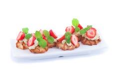 Sobremesa com morango Foto de Stock Royalty Free