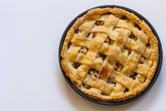 Sobremesa cozida da torta de Apple fotos de stock royalty free
