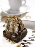 Sobremesa da brownie imagens de stock