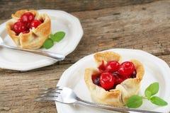 Sobremesa da cereja Foto de Stock Royalty Free