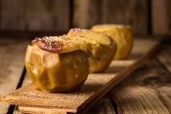 Sobremesa da dieta de maçãs cozidas Fotografia de Stock Royalty Free