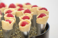 Sobremesa da framboesa Fotografia de Stock Royalty Free