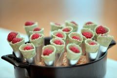 Sobremesa da framboesa Imagem de Stock Royalty Free