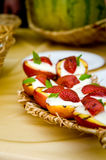 Sobremesa da fruta Fotografia de Stock Royalty Free