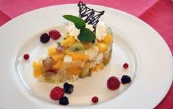 Sobremesa da fruta Fotos de Stock Royalty Free