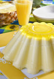 Sobremesa da geléia do abacaxi imagens de stock