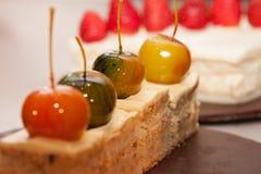 Sobremesa da maçã de cereja Imagens de Stock Royalty Free