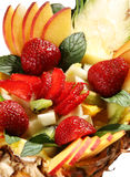 Sobremesa da mistura da fruta Fotos de Stock Royalty Free