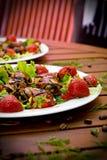 Sobremesa da morango Imagens de Stock