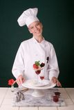 Sobremesa da morango Imagem de Stock Royalty Free