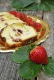 Sobremesa da morango Fotografia de Stock