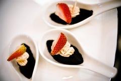 Sobremesa da morango Imagens de Stock Royalty Free