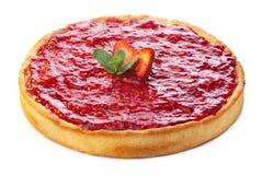 Sobremesa da morango isolada no branco Imagem de Stock Royalty Free
