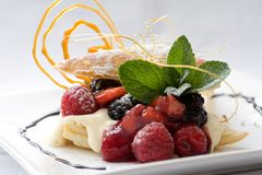 Sobremesa da pastelaria Fotos de Stock Royalty Free