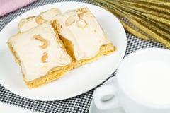 Sobremesa da torta da merengue Imagem de Stock
