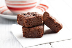 Sobremesa das brownies do chocolate Imagem de Stock