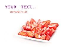 Sobremesa das morangos. Fotos de Stock