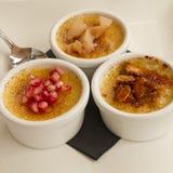 Sobremesa de Brule da nata Imagens de Stock