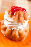 Sobremesa de creme chicoteada, DOF raso Imagem de Stock Royalty Free