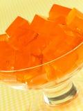 Sobremesa de Gelatin alaranjada fotografia de stock royalty free