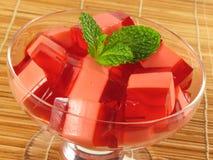 Sobremesa de Gelatin vermelha & cor-de-rosa imagem de stock royalty free