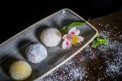 Sobremesa de Mochi Fotografia de Stock Royalty Free