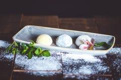 Sobremesa de Mochi Fotos de Stock Royalty Free